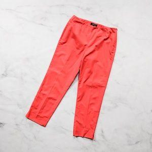 Lafayette 148 Bright Coral Cotton Pants